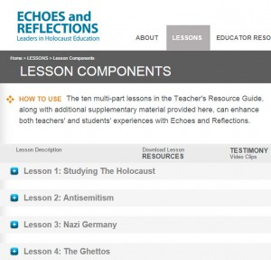 Holocaust Education Echoes and Reflections Lesson Components