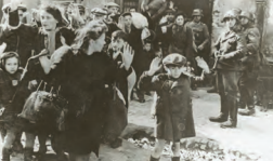 Warsaw Ghetto residents being rounded up