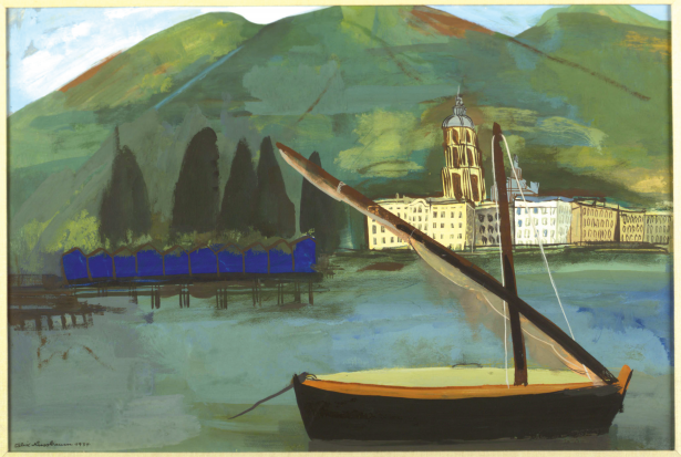 Felix Nussbaum's piece titled Shore at the Rapallo