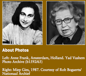Anne Frank and Miep Gies