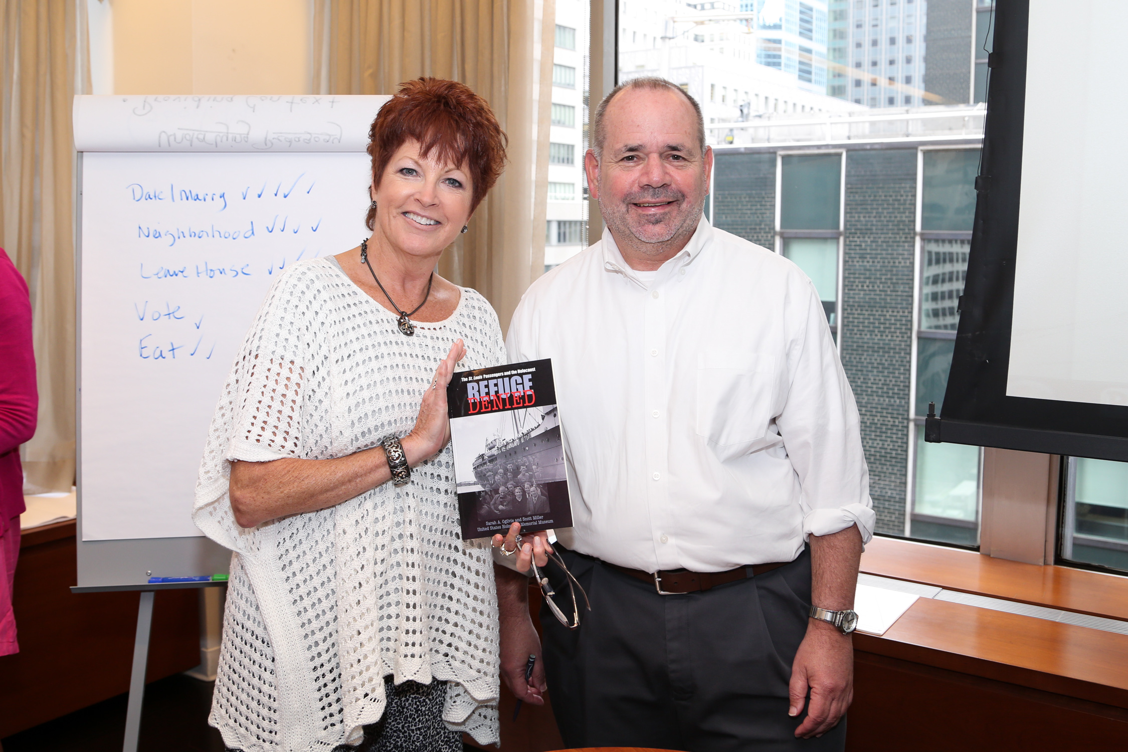 Scott Miller signed his book on the MS St Louis at the 2014 Wolf Conference