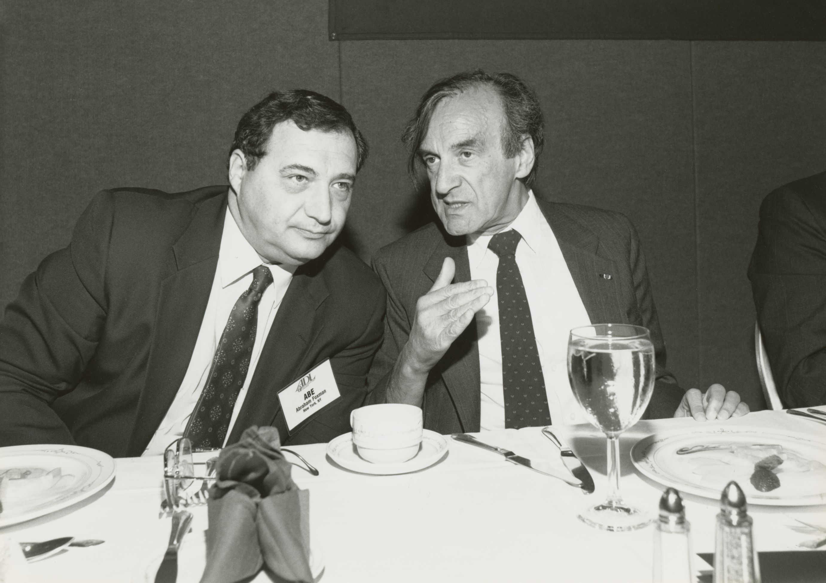 Abe Foxman of ADL with Elie Wiesel