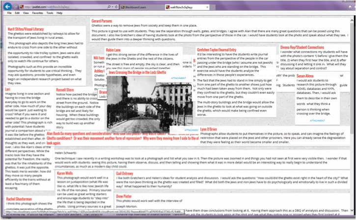 Padlet is a tool that educators will become familiar with through this webinar on Holocaust education