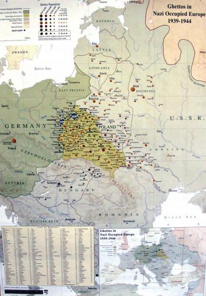 Ghettos were established in Nazi Europe starting in 1939