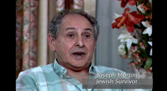 Joseph Morton is a Jewish Holocaust Survivor