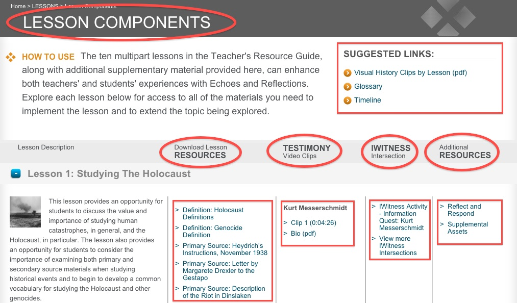 Lesson Components offers primary sources to use in Holocaust education
