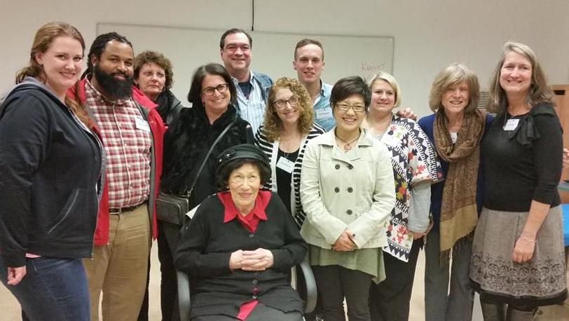 Holocaust survivor Hannah Pick, a childhood friend of Anne Frank