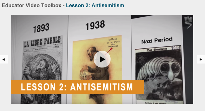 Educator Video Toolbox helps teachers better understand Antisemitism