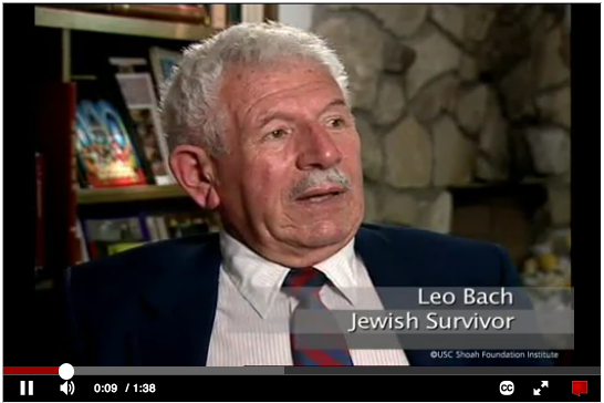 Holocaust survivor Leo Back speaks about his hope for humanity
