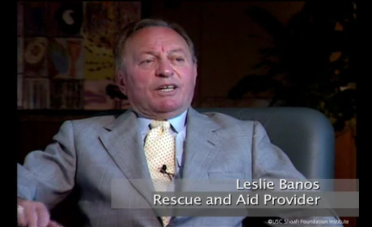 Leslie Banos Holocaust education and rescuing people