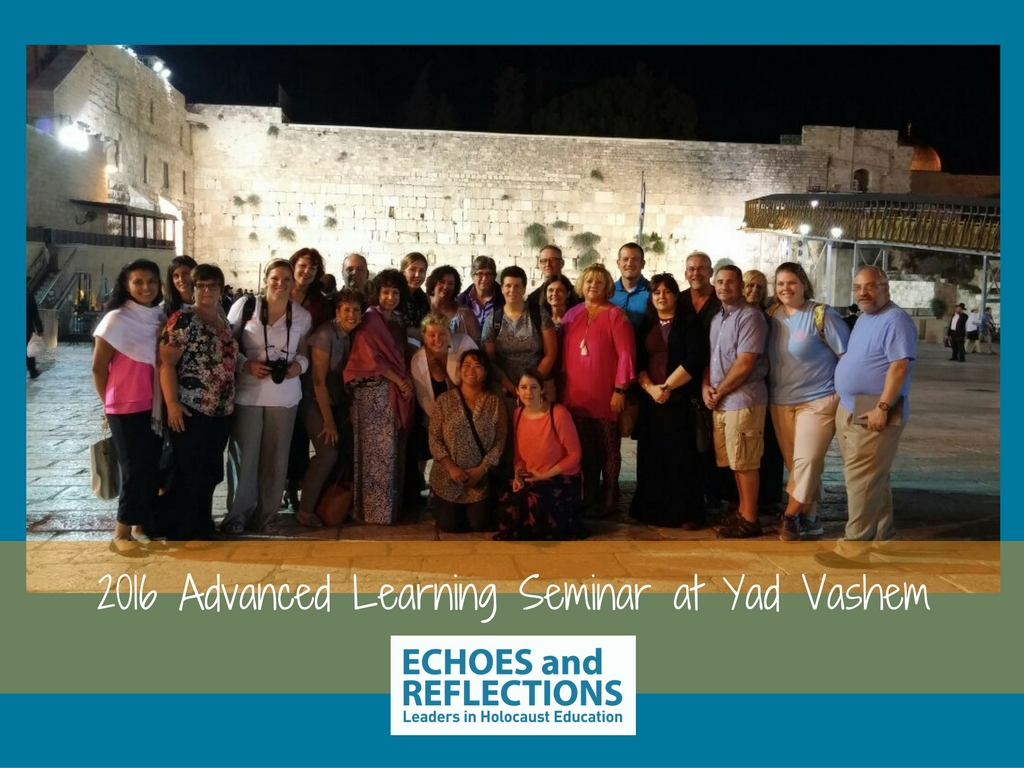 2016 Advanced Learning Seminar at Yad Vashem all Participants