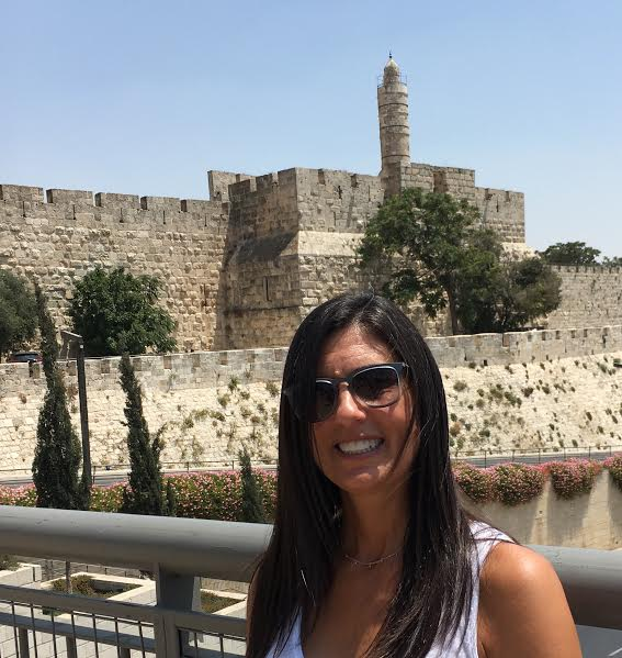 Anna O'Brien at the Jaffa Gate while on the 2016 Yad Vashem Echoes and Reflections Summer seminar