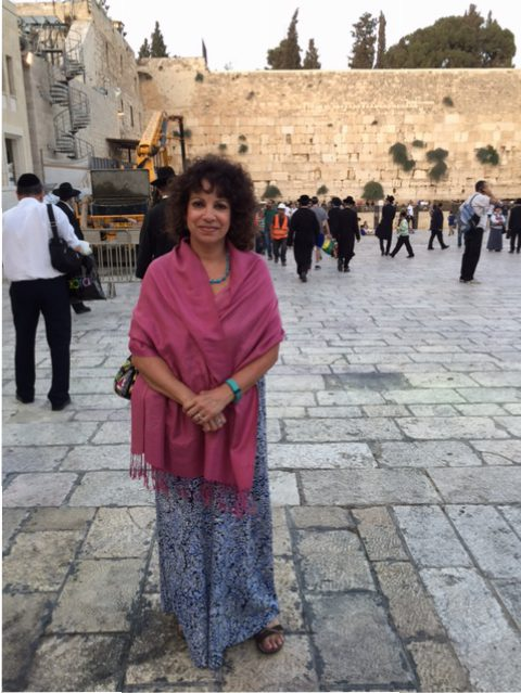 Sarah Brown at the Western Wall while on the 2016 Yad Vashem Echoes and Reflections Summer seminar