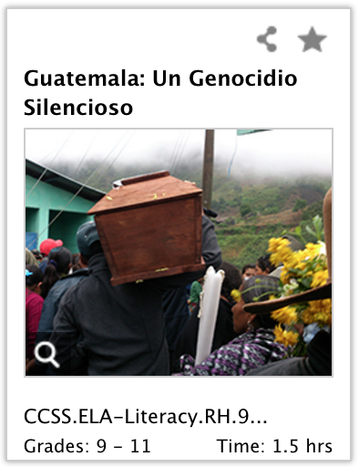 IWitness activity about the Guatemalan genocide